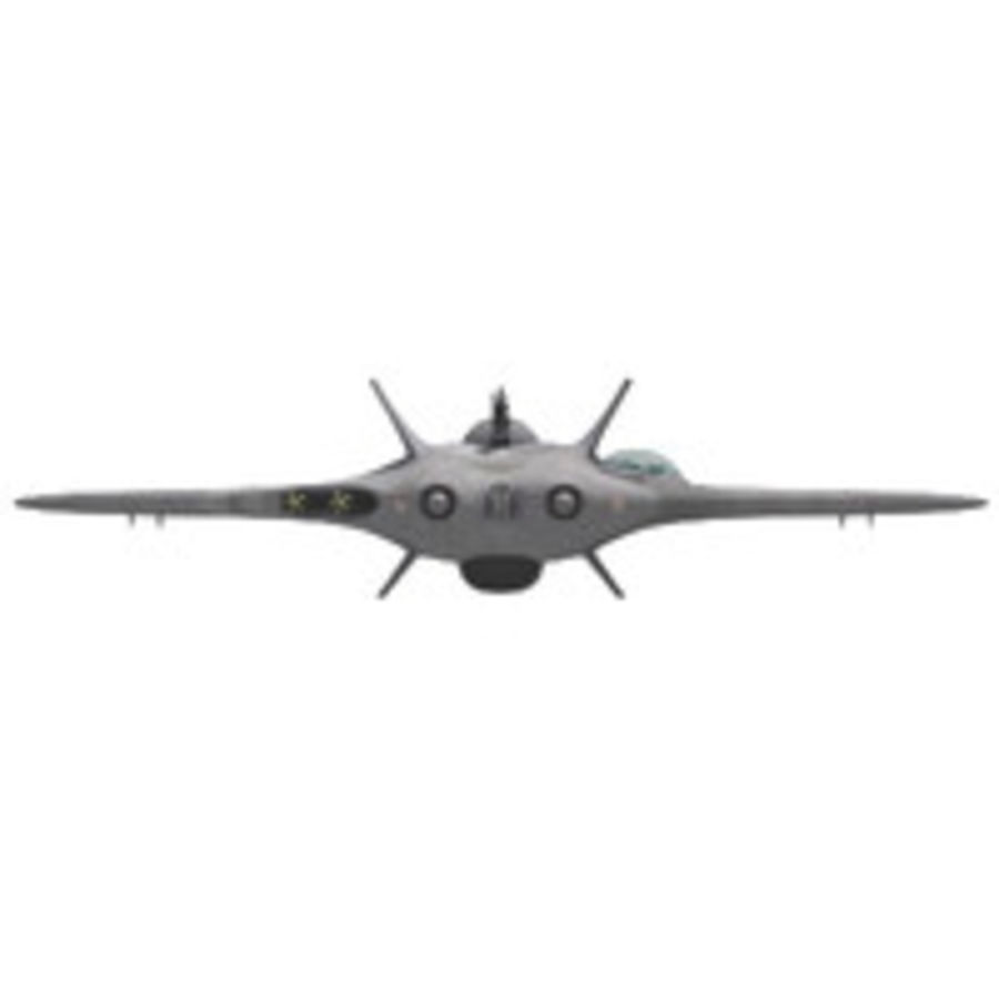 Space fighter ship royalty-free 3d model - Preview no. 4