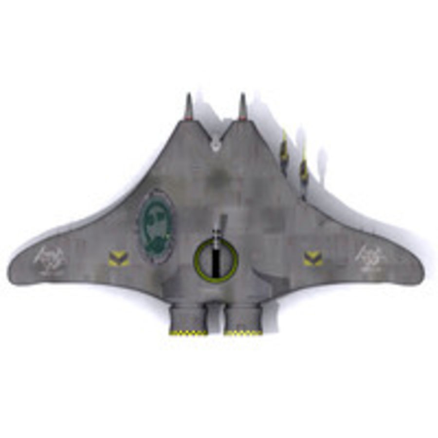 Space fighter ship royalty-free 3d model - Preview no. 5