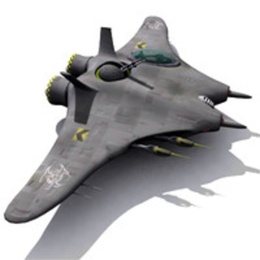 Space fighter ship royalty-free 3d model - Preview no. 1