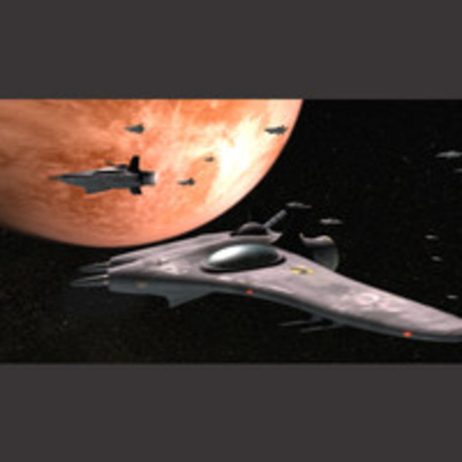 Space fighter ship royalty-free 3d model - Preview no. 2