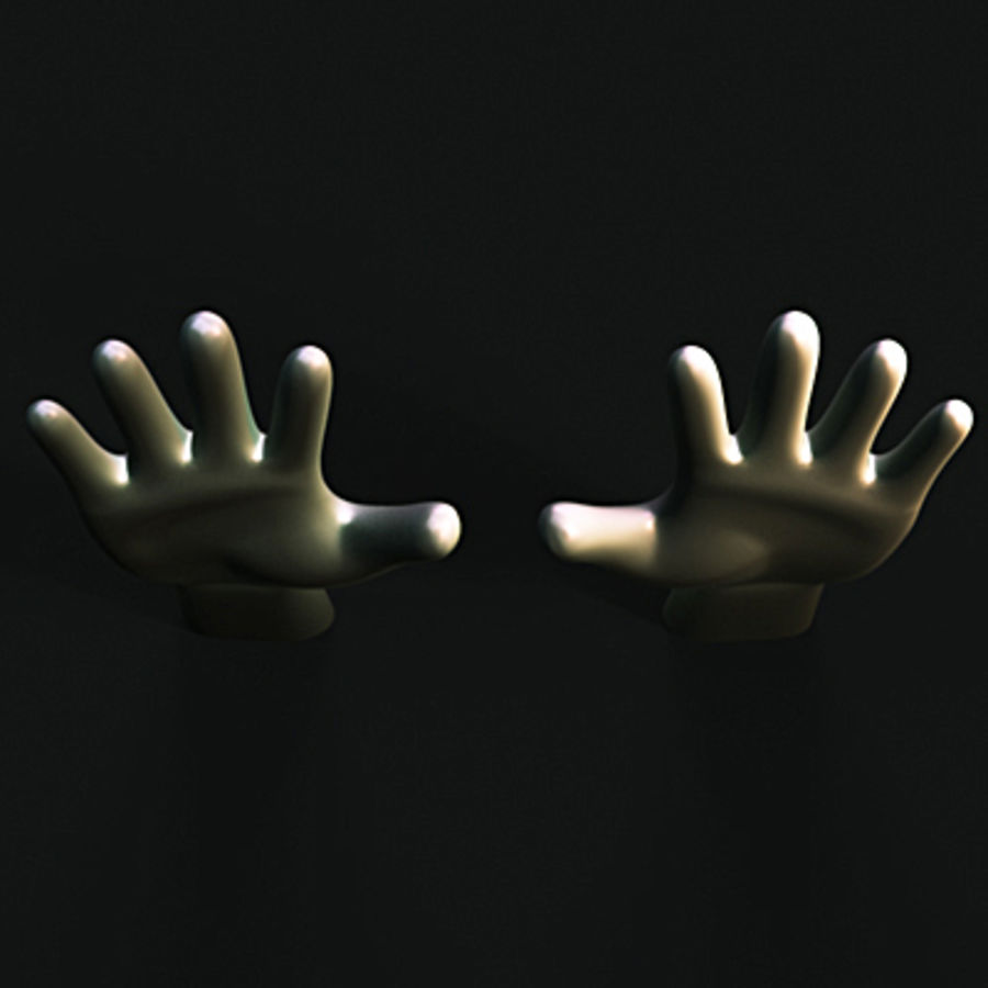 low poly hands basemesh royalty-free 3d model - Preview no. 4