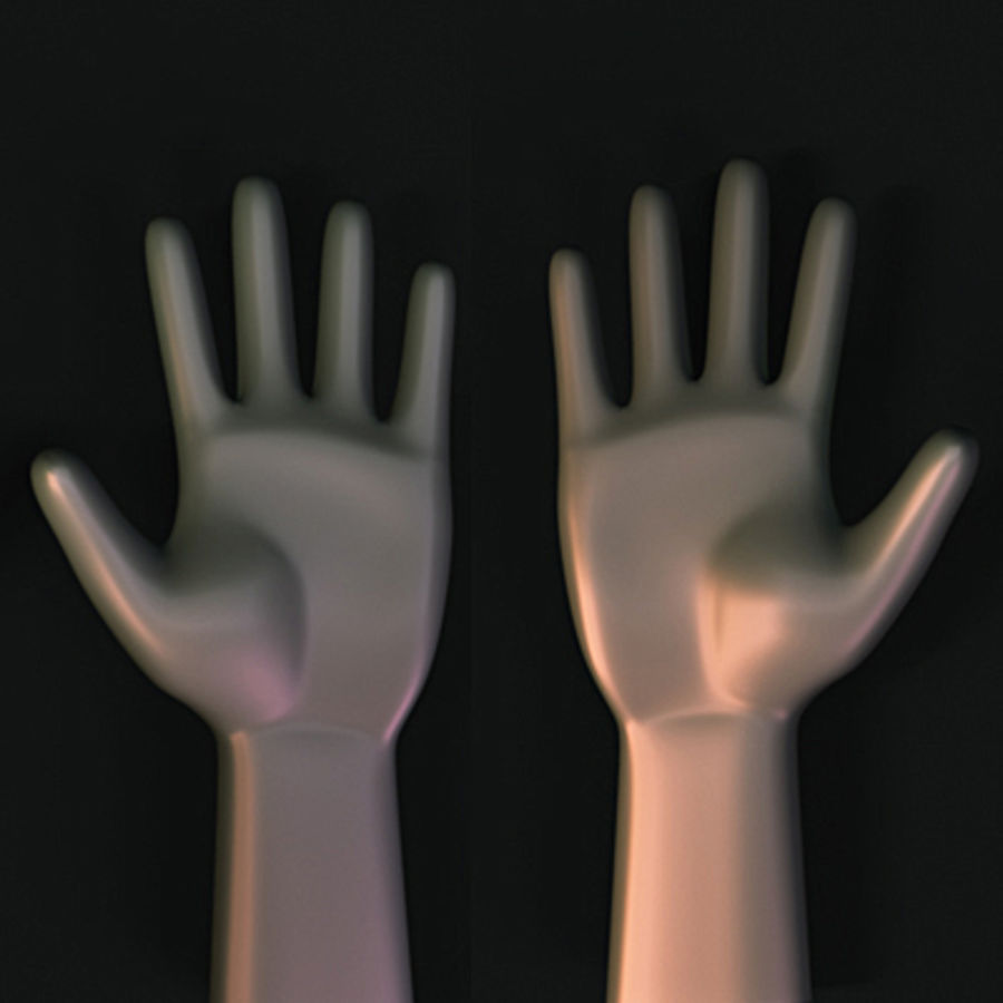 low poly hands basemesh royalty-free 3d model - Preview no. 3