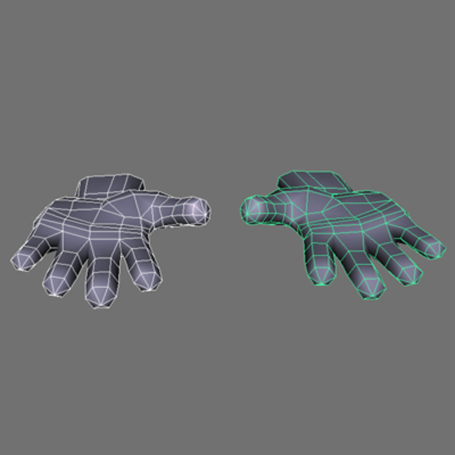 low poly hands basemesh royalty-free 3d model - Preview no. 5