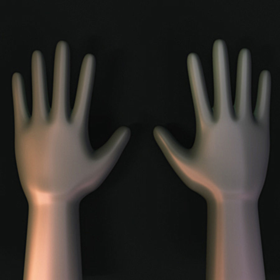 low poly hands basemesh royalty-free 3d model - Preview no. 2
