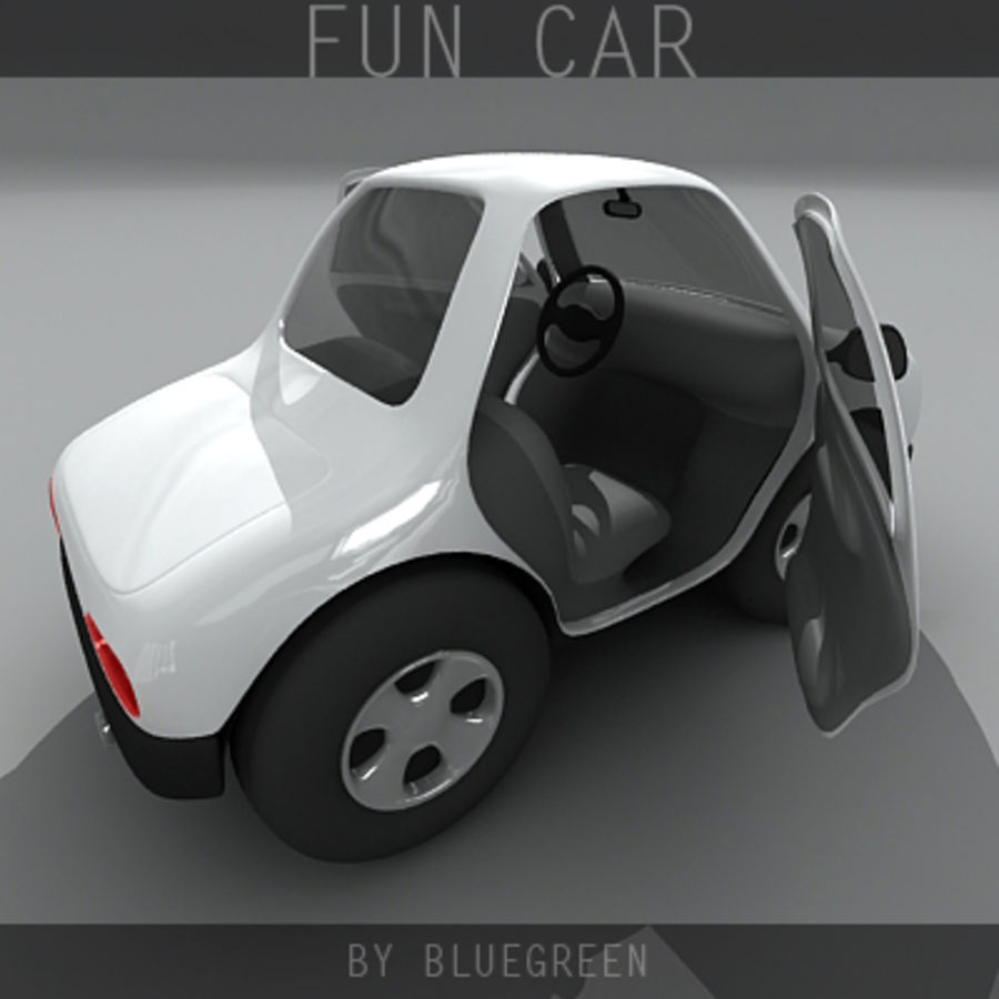 Carro divertido royalty-free 3d model - Preview no. 9