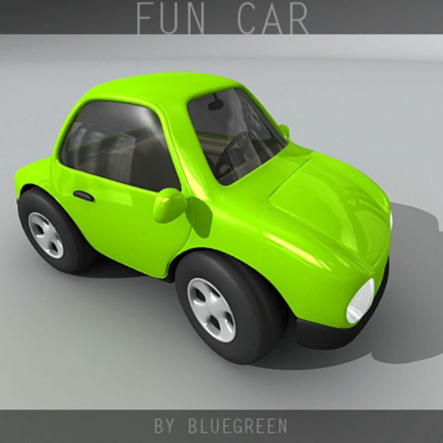 Carro divertido royalty-free 3d model - Preview no. 1