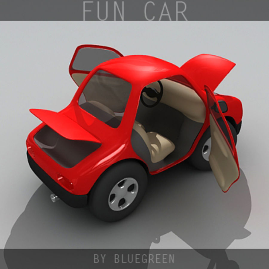 Carro divertido royalty-free 3d model - Preview no. 3