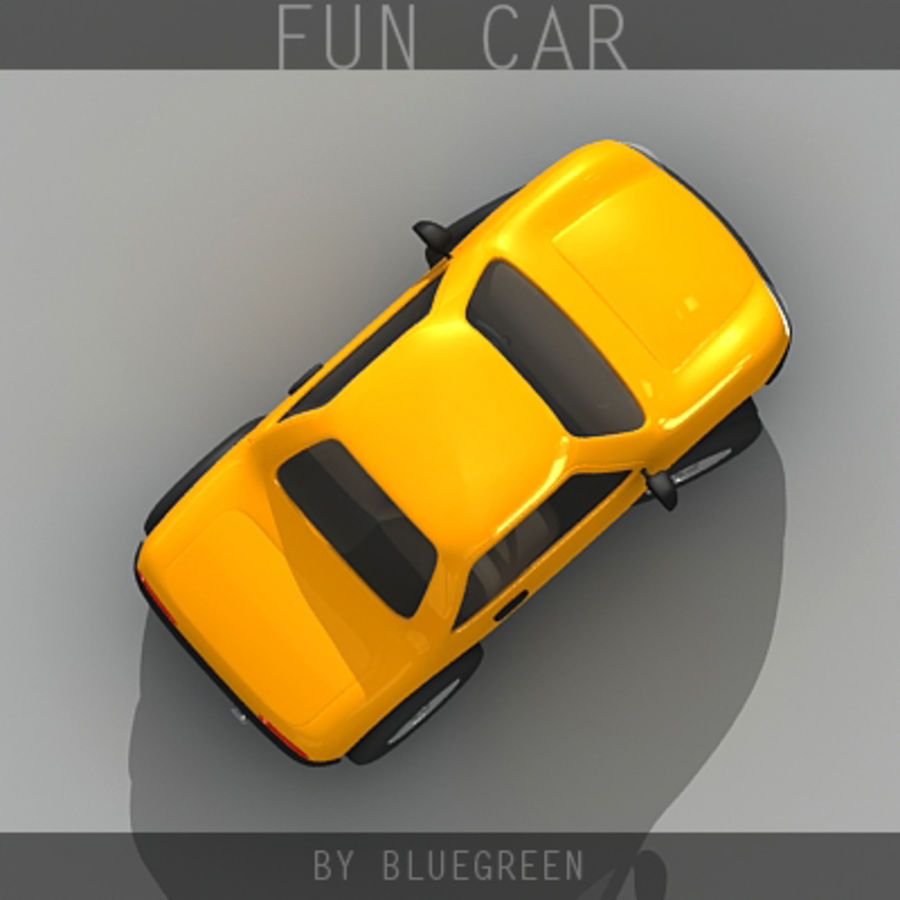 Carro divertido royalty-free 3d model - Preview no. 10