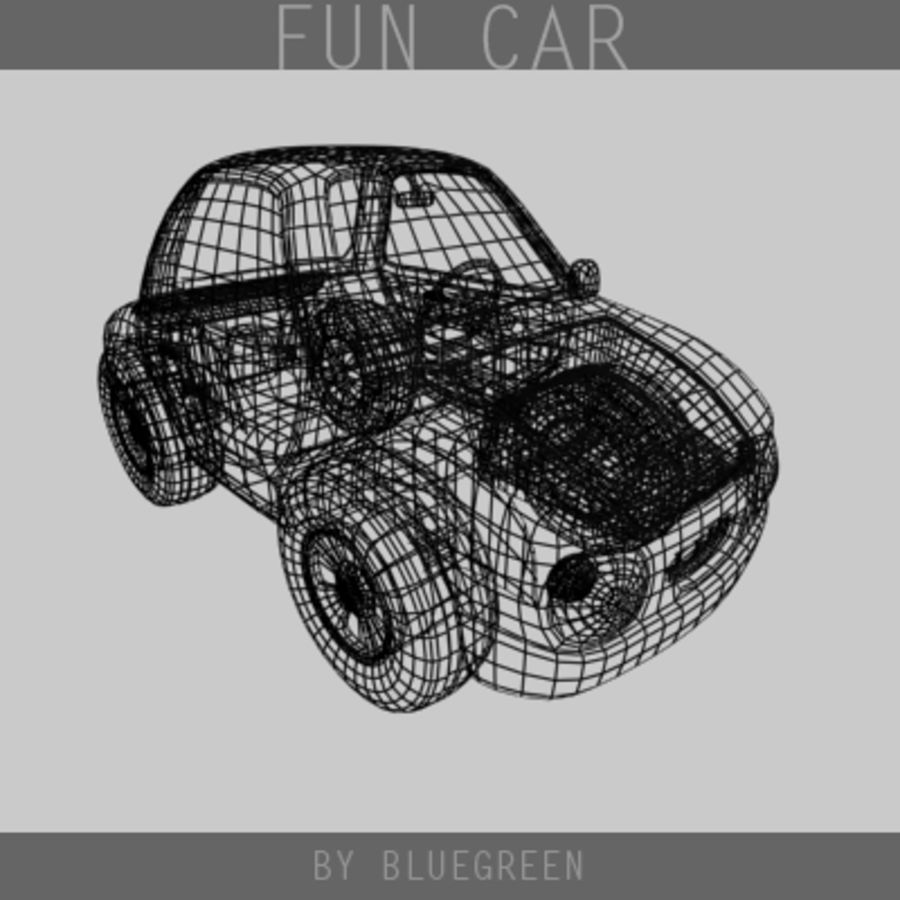 Carro divertido royalty-free 3d model - Preview no. 12