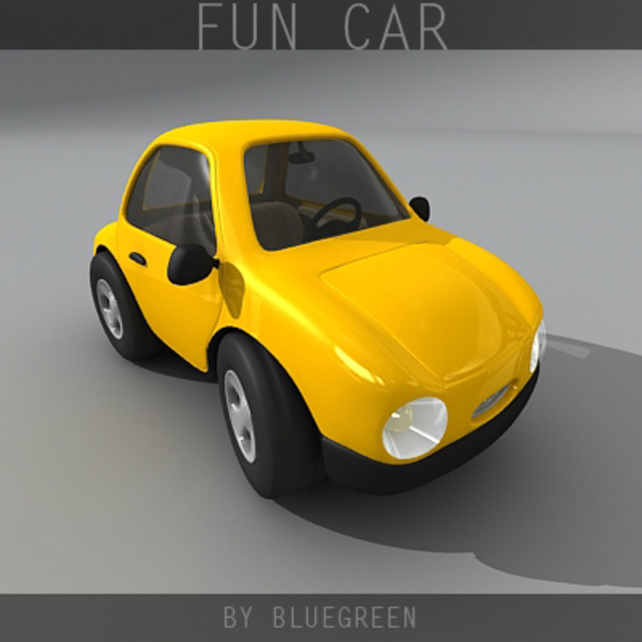 Carro divertido royalty-free 3d model - Preview no. 7