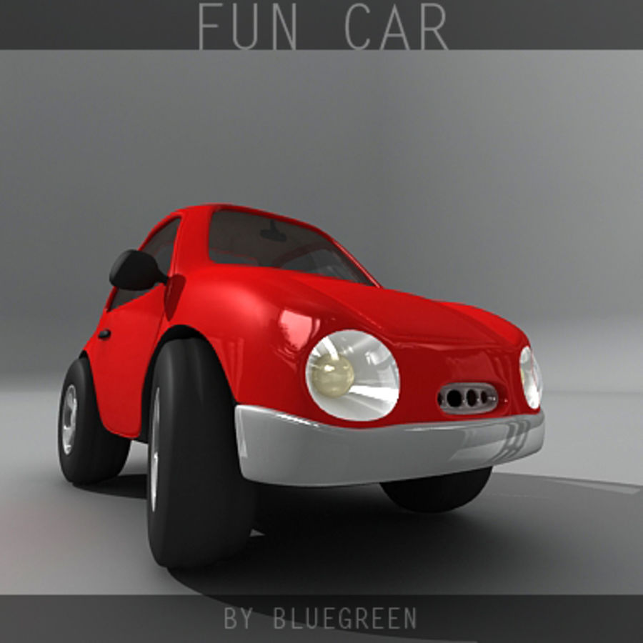 Carro divertido royalty-free 3d model - Preview no. 6