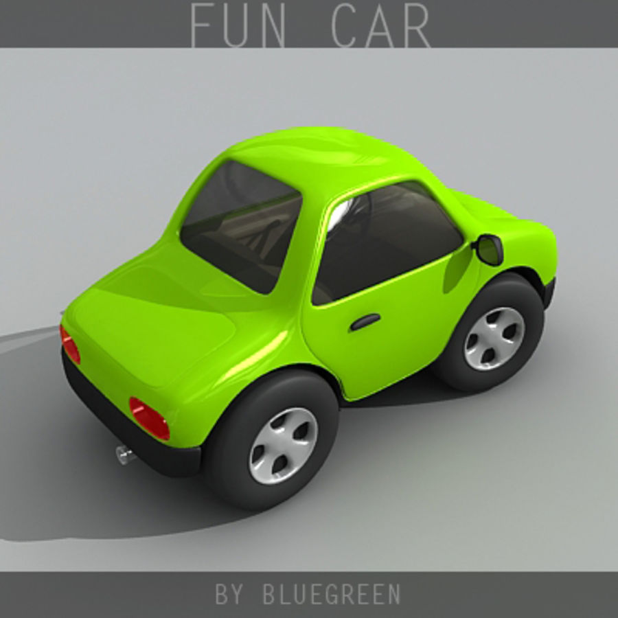 Carro divertido royalty-free 3d model - Preview no. 5