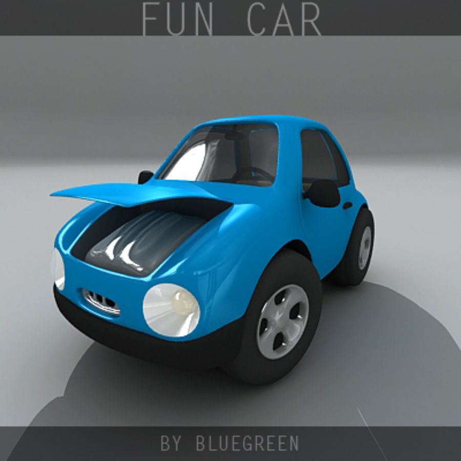 Carro divertido royalty-free 3d model - Preview no. 2