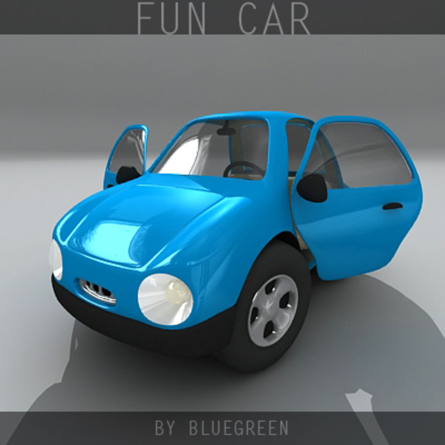 Carro divertido royalty-free 3d model - Preview no. 4