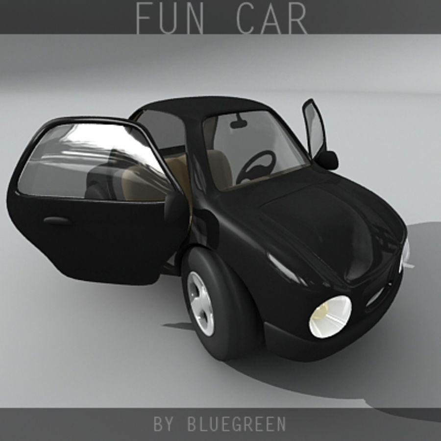 Carro divertido royalty-free 3d model - Preview no. 8