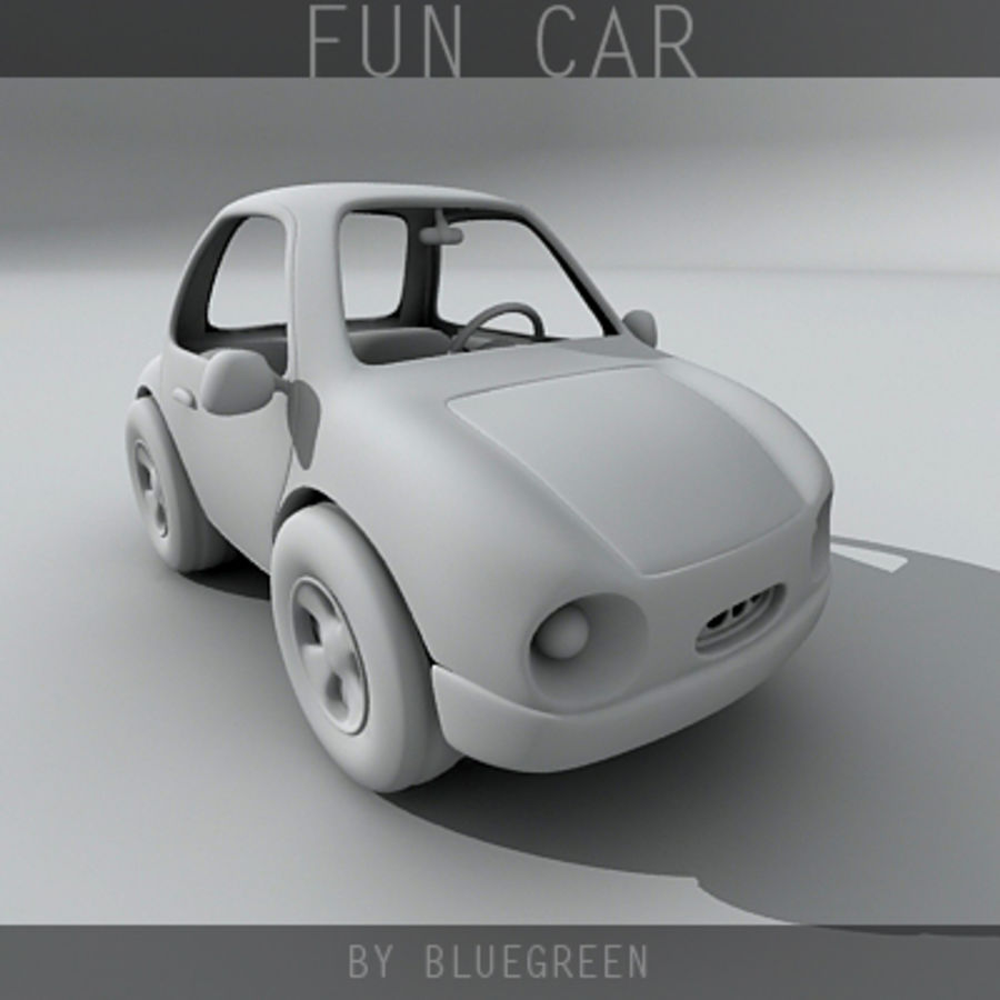 Carro divertido royalty-free 3d model - Preview no. 11
