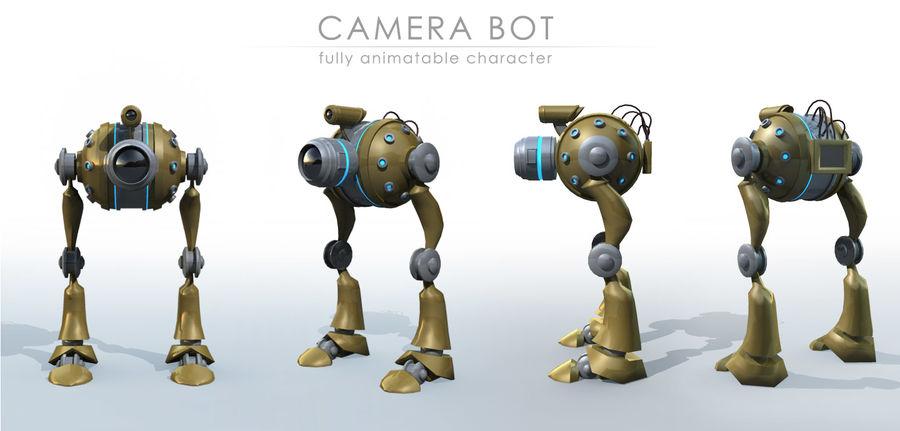 Camera Bot royalty-free 3d model - Preview no. 3