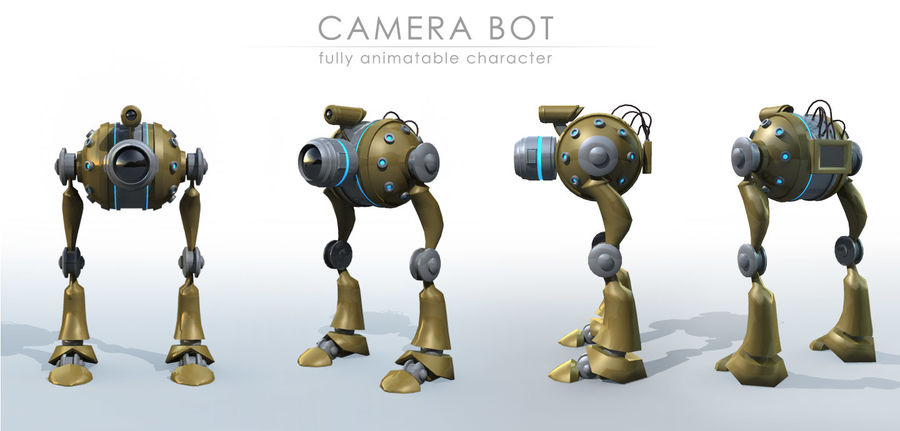 Camera Bot royalty-free 3d model - Preview no. 2