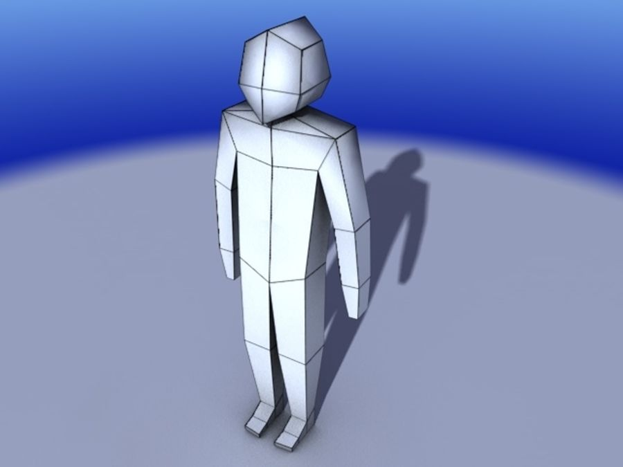 Low Poly character royalty-free 3d model - Preview no. 2