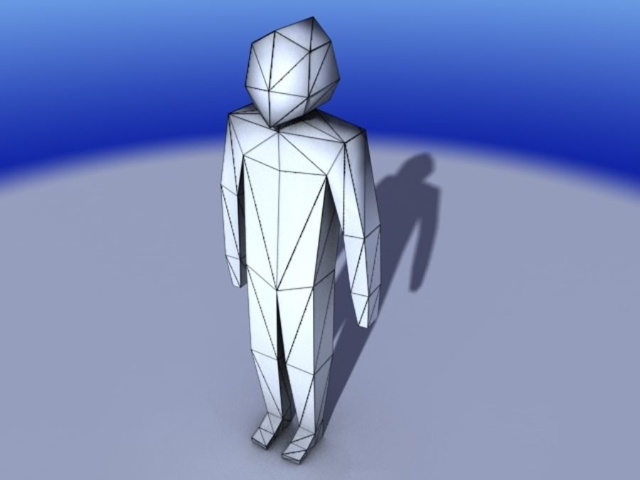 Low Poly character royalty-free 3d model - Preview no. 1
