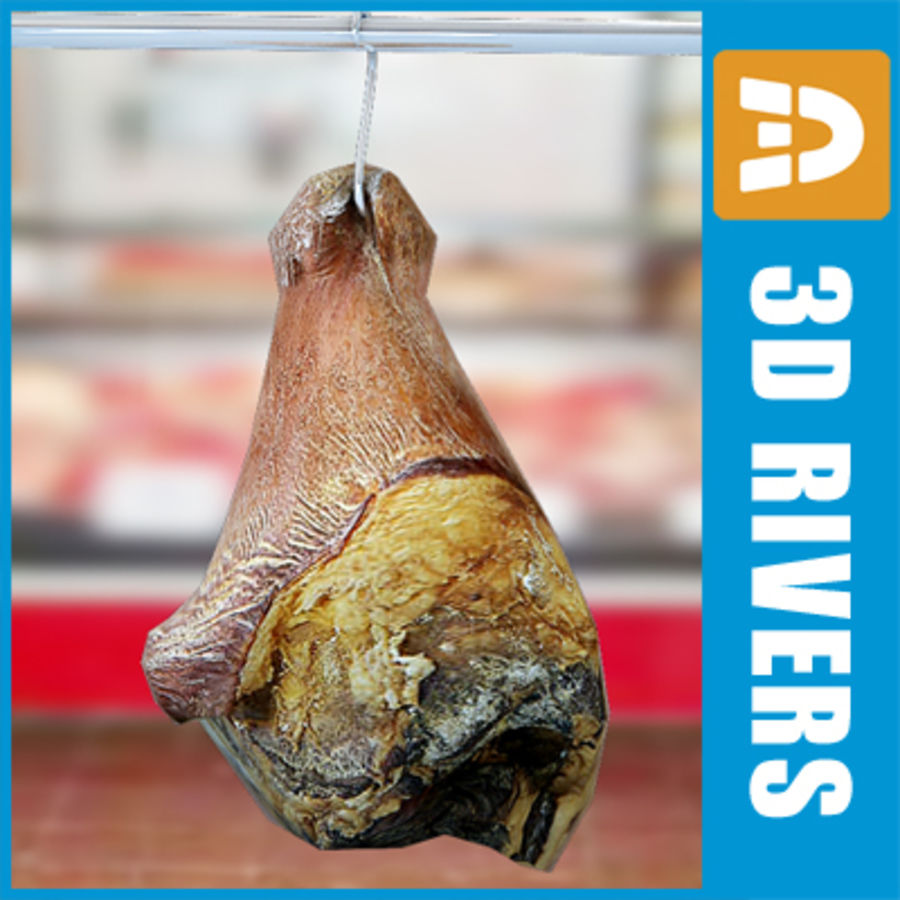 Smoked pork leg by 3DRivers royalty-free 3d model - Preview no. 1