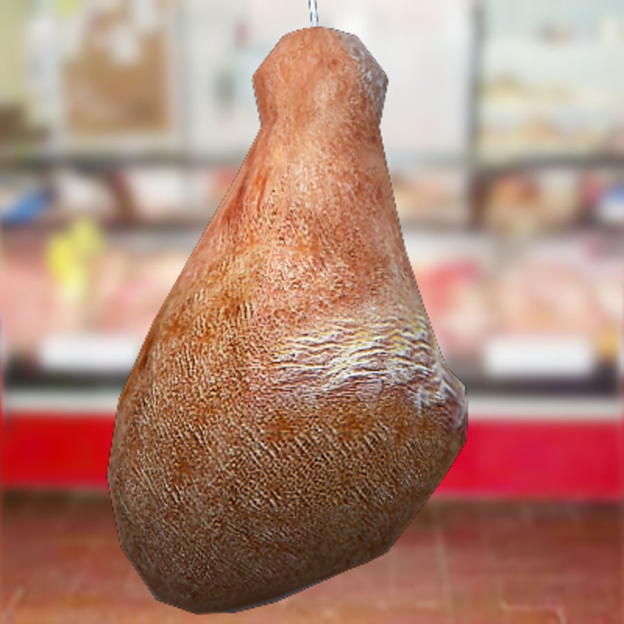 Smoked pork leg by 3DRivers royalty-free 3d model - Preview no. 5