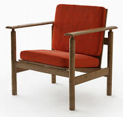 fauteuil retro 3d model