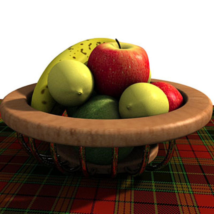 001 Fruit Basket royalty-free 3d model - Preview no. 4