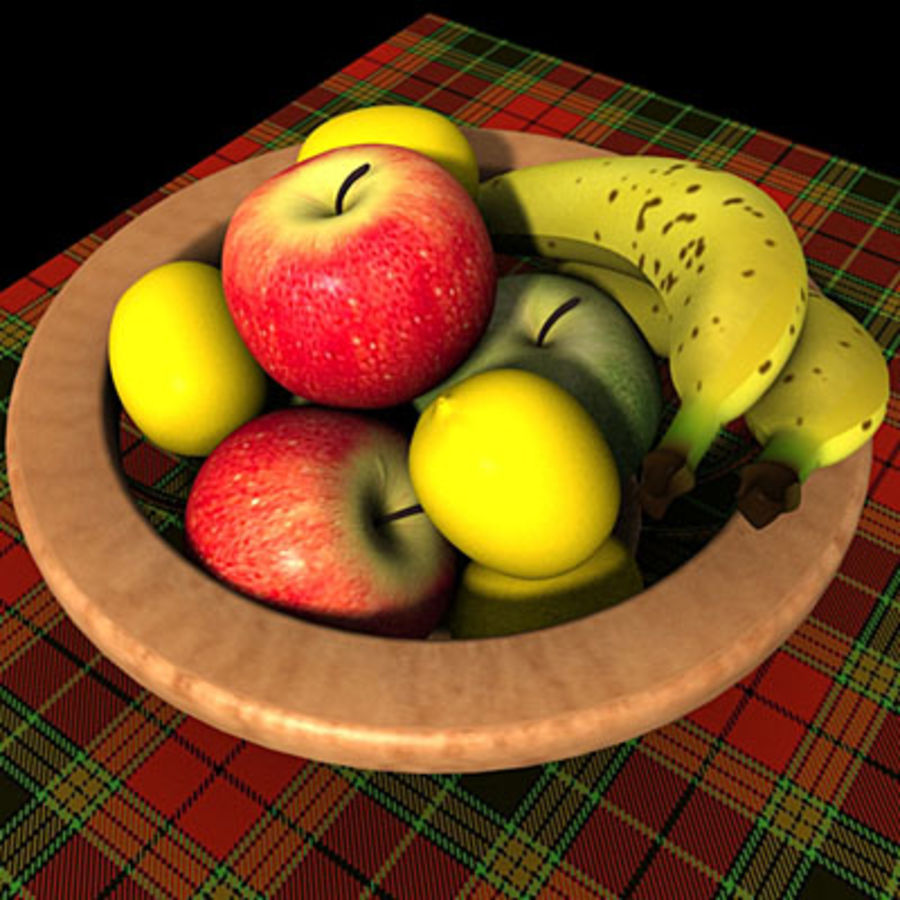001 Fruit Basket royalty-free 3d model - Preview no. 1