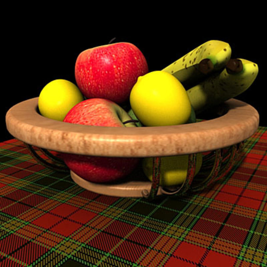 001 Fruit Basket royalty-free 3d model - Preview no. 2