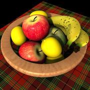 001 corbeille de fruits 3d model