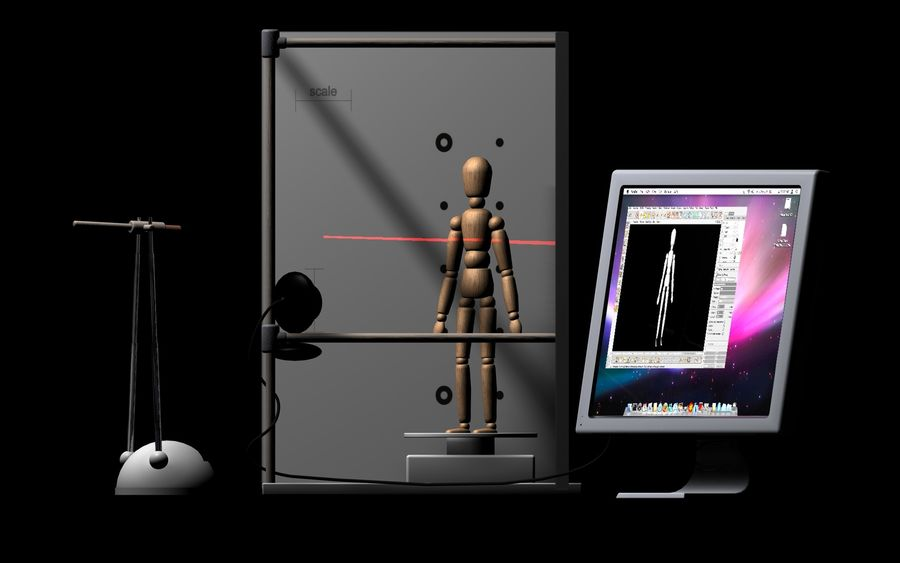 David 3D Scanner royalty-free 3d model - Preview no. 5