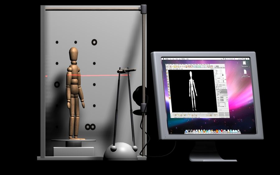 David 3D Scanner royalty-free 3d model - Preview no. 6