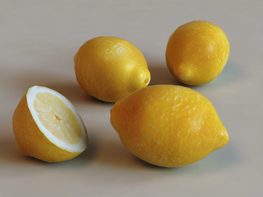 Lemons collection royalty-free 3d model - Preview no. 3