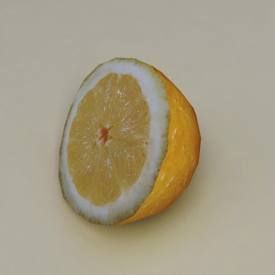 Lemons collection royalty-free 3d model - Preview no. 8