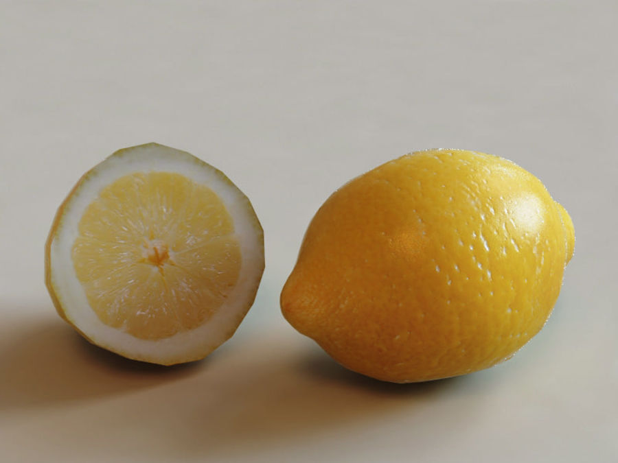 Lemons collection royalty-free 3d model - Preview no. 4