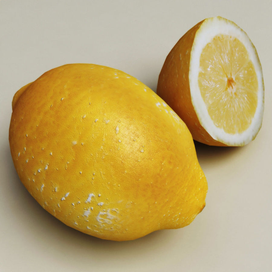 Lemons collection royalty-free 3d model - Preview no. 2