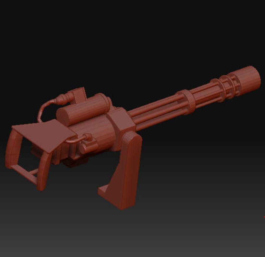 M134 Minigun royalty-free 3d model - Preview no. 2