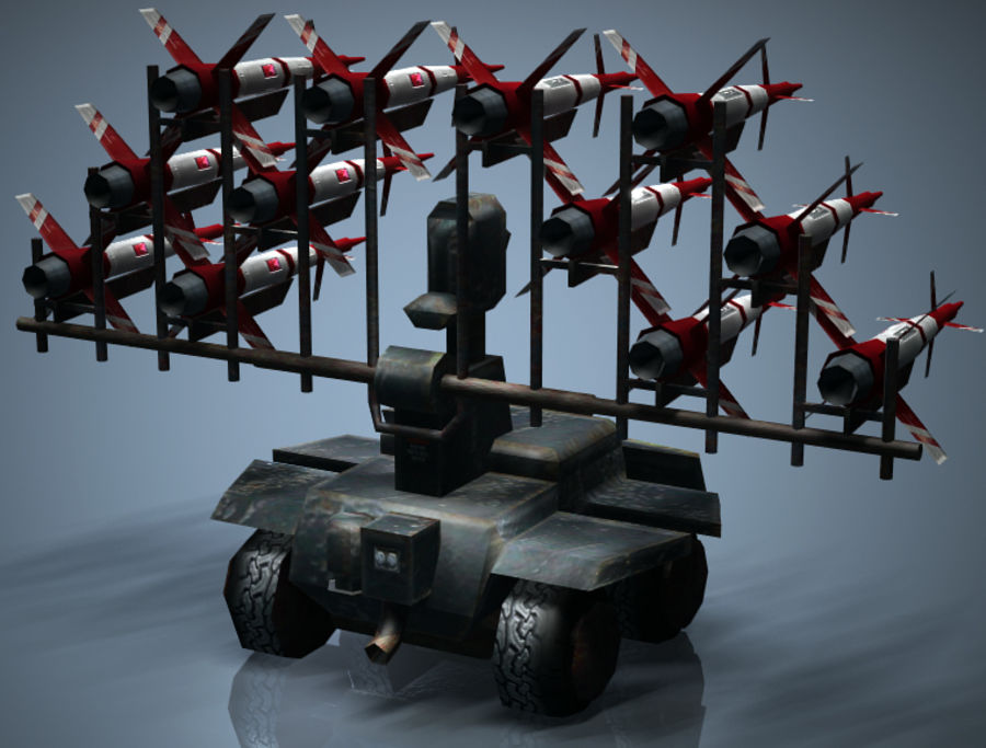 Mobile Missile Launcher royalty-free 3d model - Preview no. 2