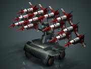 Mobile Missile Launcher 3d model