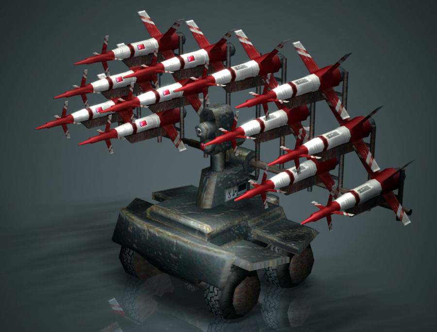 Mobile Missile Launcher royalty-free 3d model - Preview no. 1