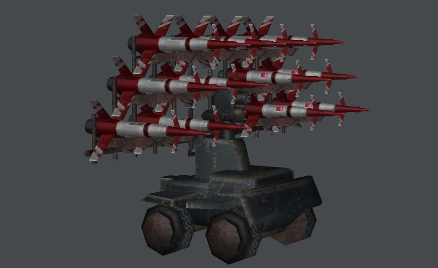 Mobile Missile Launcher royalty-free 3d model - Preview no. 4