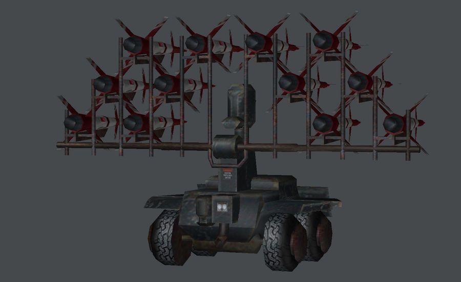 Mobile Missile Launcher royalty-free 3d model - Preview no. 5