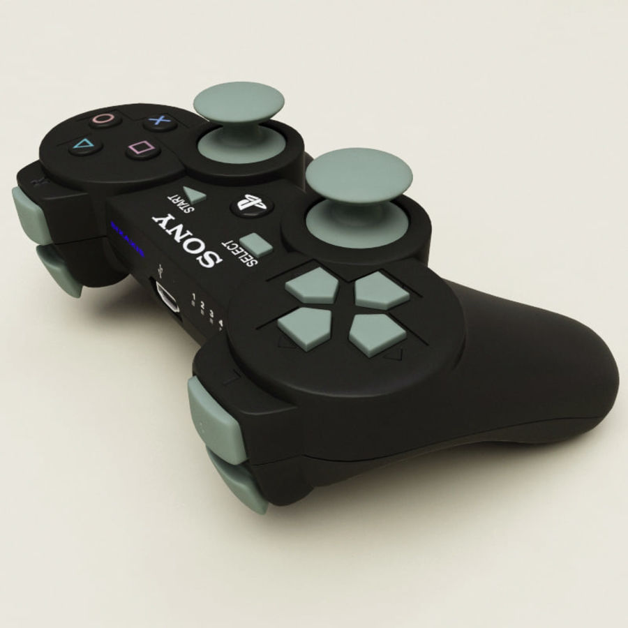 Sony PlayStation 3 Controller royalty-free 3d model - Preview no. 5