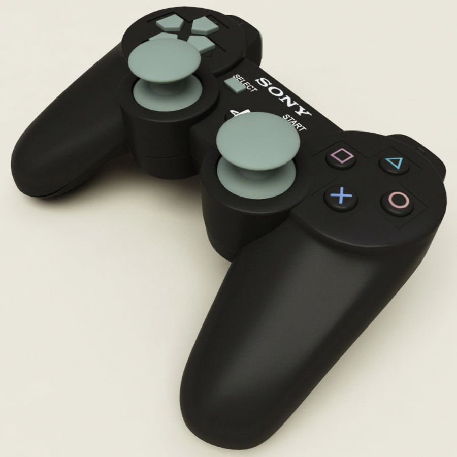 Sony PlayStation 3 Controller royalty-free 3d model - Preview no. 3