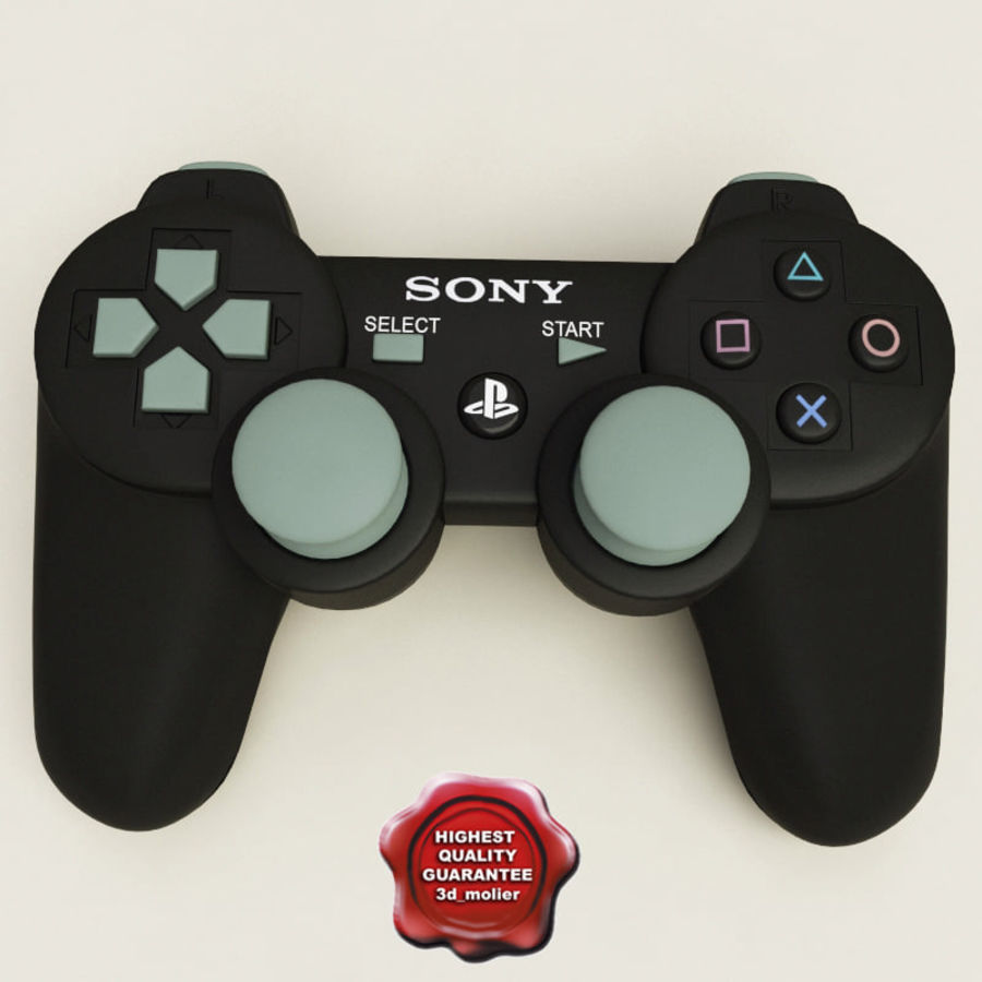 Sony PlayStation 3 Controller royalty-free 3d model - Preview no. 1