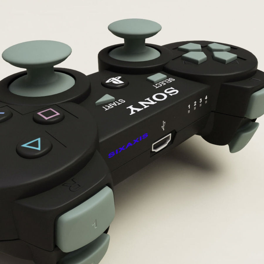 Sony PlayStation 3 Controller royalty-free 3d model - Preview no. 9