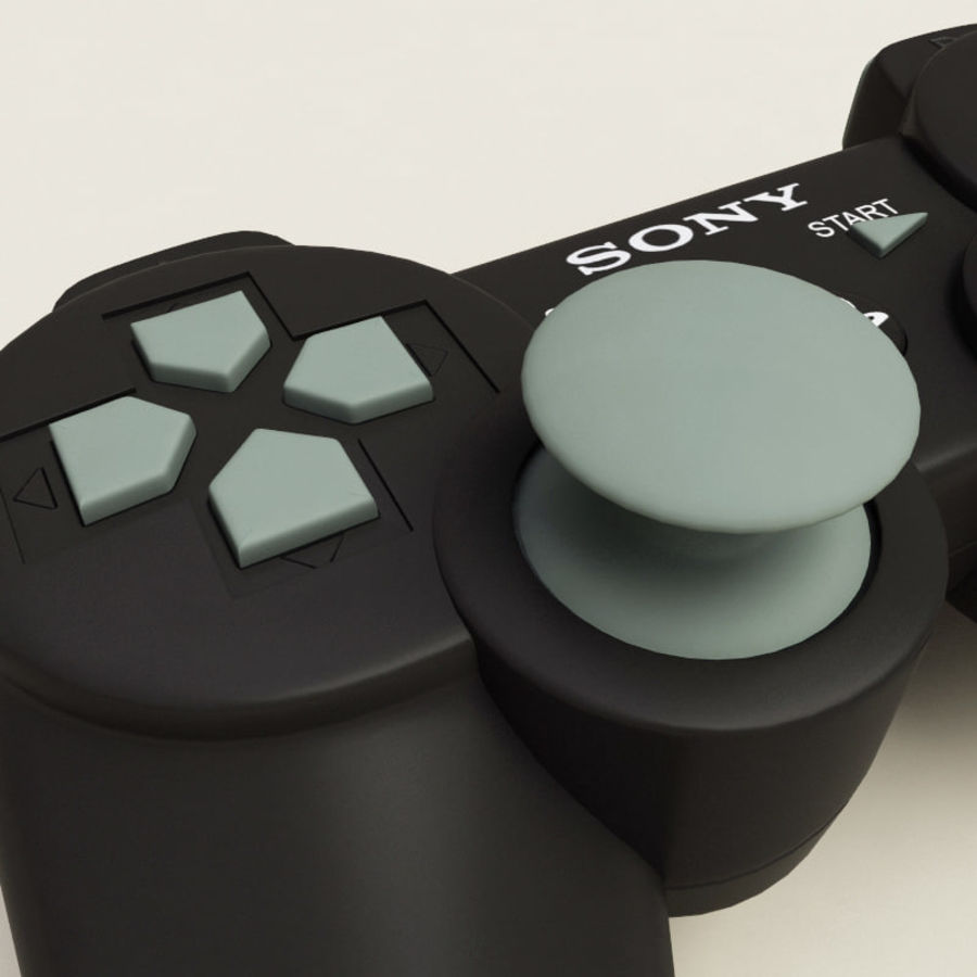 Sony PlayStation 3 Controller royalty-free 3d model - Preview no. 7