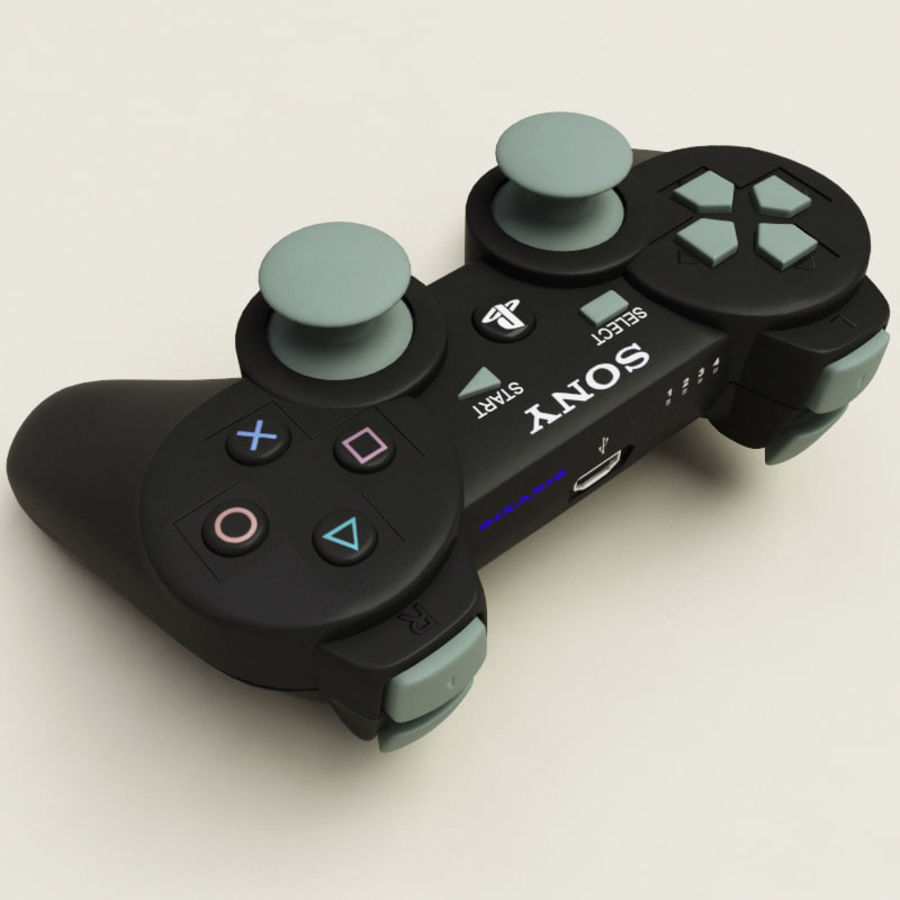 Sony PlayStation 3 Controller royalty-free 3d model - Preview no. 4
