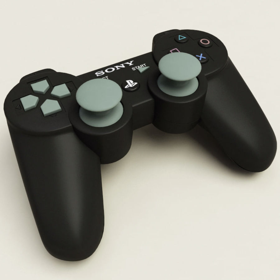 Sony PlayStation 3 Controller royalty-free 3d model - Preview no. 2